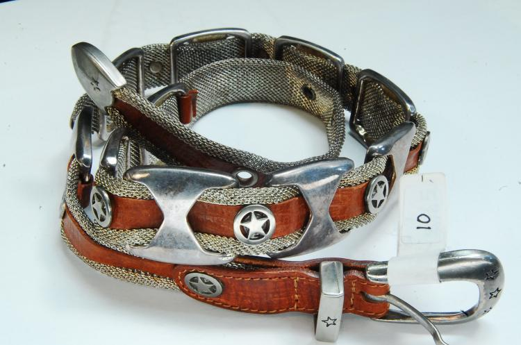 Lot 10: South Western Style Mesh Belt Size 31