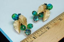 Lot 21: Vintage Schiaparelli Costume Jewelry Earrings