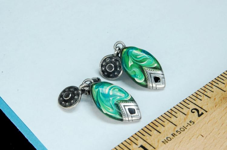 Vintage Art Deco Style Ladies Clip-On Earrings