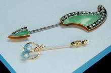 Lot 26: Vintage Krementz Ladies Scarf Or Hat Pin