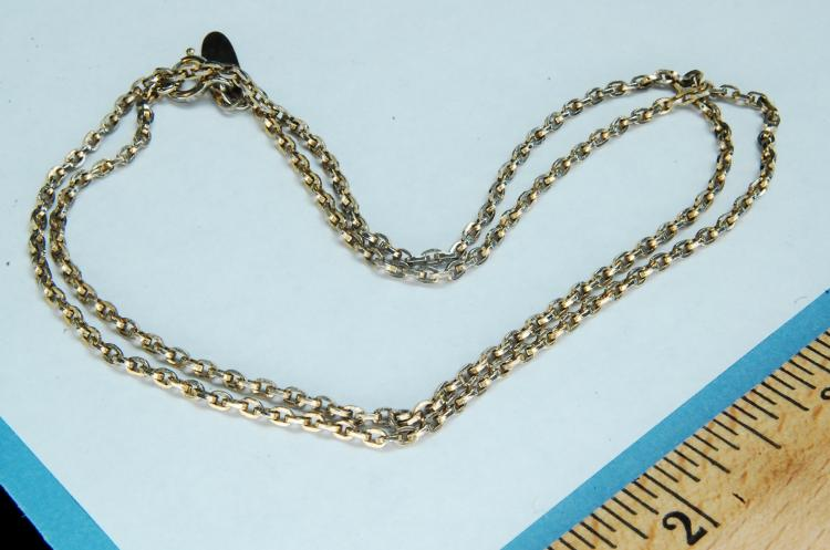 Vintage Whiting Davis Goldtone Chain Necklace
