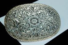 Lot 58: 61g Sterling 22K Gold Plated San Carlos Buckle