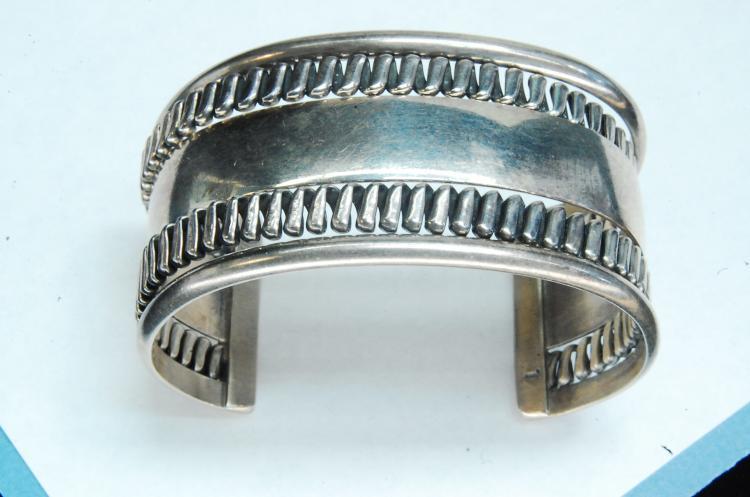 Vintage 57g Sterling Tommy Singer Cuff Bracelet