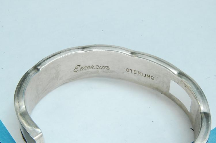 90g Sterling Signed Emerson Navajo Cuff Bracelet