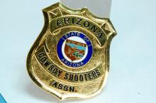 Lot 39: Smith & Warren AZ Cowboy Shooters Assn. Badge