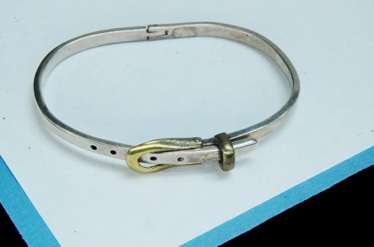 12.3g Sterling Mexico Belt With Buckle Bracelet