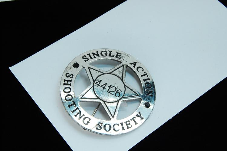 Vintage Single Action Shooting Society Badge