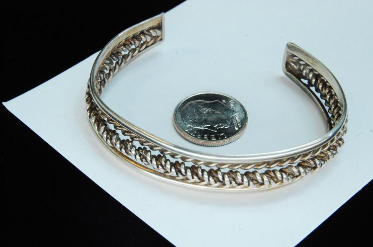 19g Sterling Silver Twisted Ladies Cuff Bracelet