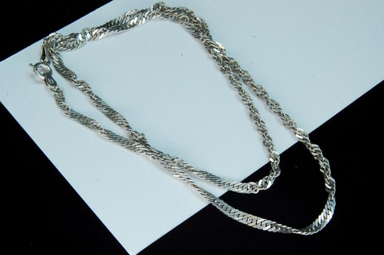 5g Sterling Rope Style Chain Necklace