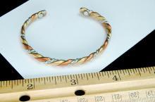 Lot 117: Copper Silver Brass Twisted Cuff Bracelet