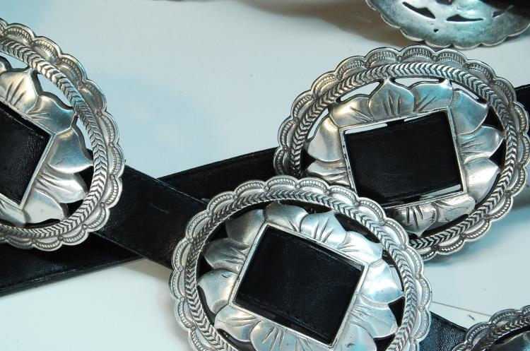 Lot 118: Costume Cast Metal Flower Concho Belt