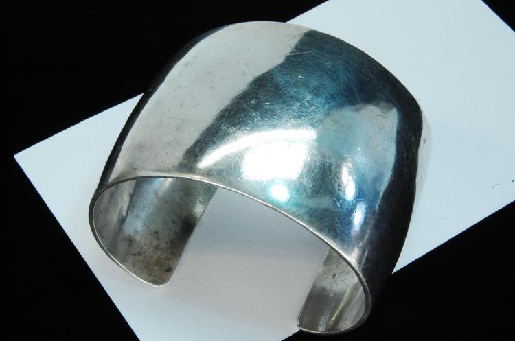 83g Sterling Navajo Signed JM Cuff Bracelet
