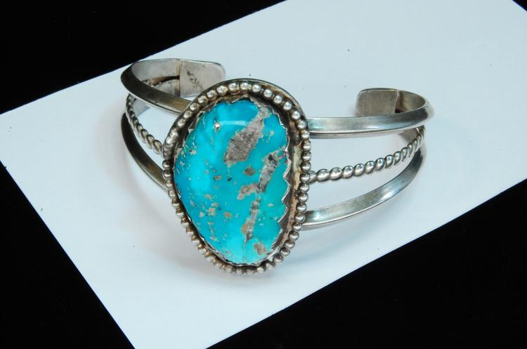 42.5g Sterling Turquoise Navajo Cuff Bracelet