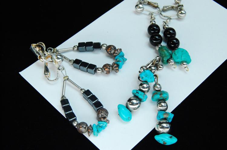 Lot 136: Turquoise Turquoise Hematite Clip-On Earring Lot