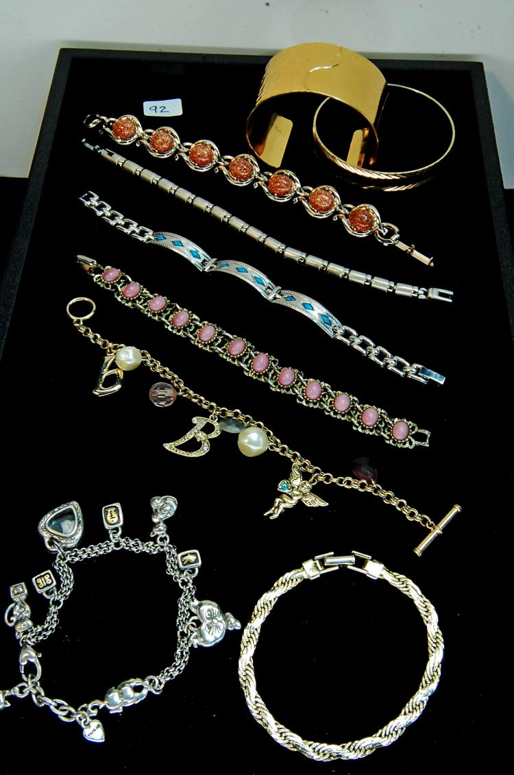 Vintage To Modern Costume Jewelry Bracelet Lot