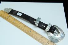 Lot 140: 35g Sterling Edward Baird Belt Buckle Loop Tip Set
