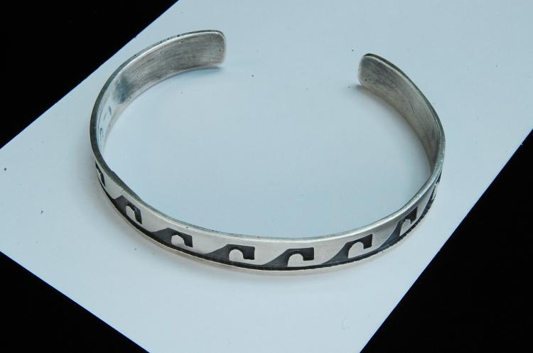 15.5g Sterling Silver Hopi Cuff Bracelet