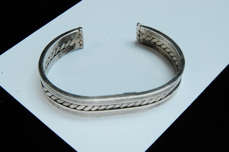 Lot 148: 27g Sterling Silver Small Cuff Bracelet