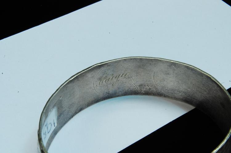 "Lot 160: 1933 24g Sterling ""Chicago"" Progress Cuff Bracelet"