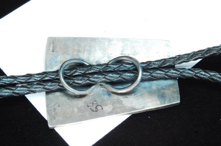 Lot 163: Vintage 35g Sterling Zuni Kokopelli Bolo Tie