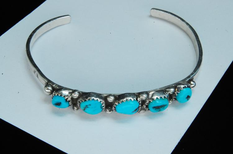 12g Sterling Turquoise Navajo Cuff Bracelet
