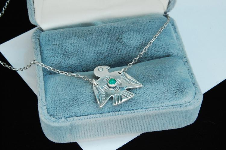 Sterling Silver Navajo Bird Necklace