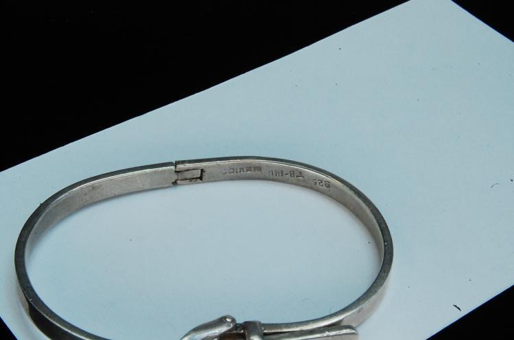 Lot 182: 40g Sterling Silver Hopi Stamped Cuff Bracelet