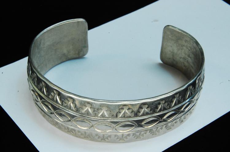40g Sterling Silver Hopi Stamped Cuff Bracelet