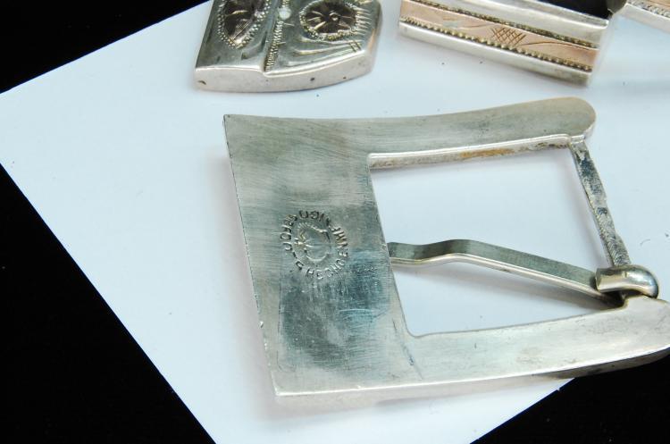 Lot 192: Vintage 56g Sterling Mexico Buckle Loops Tip Set