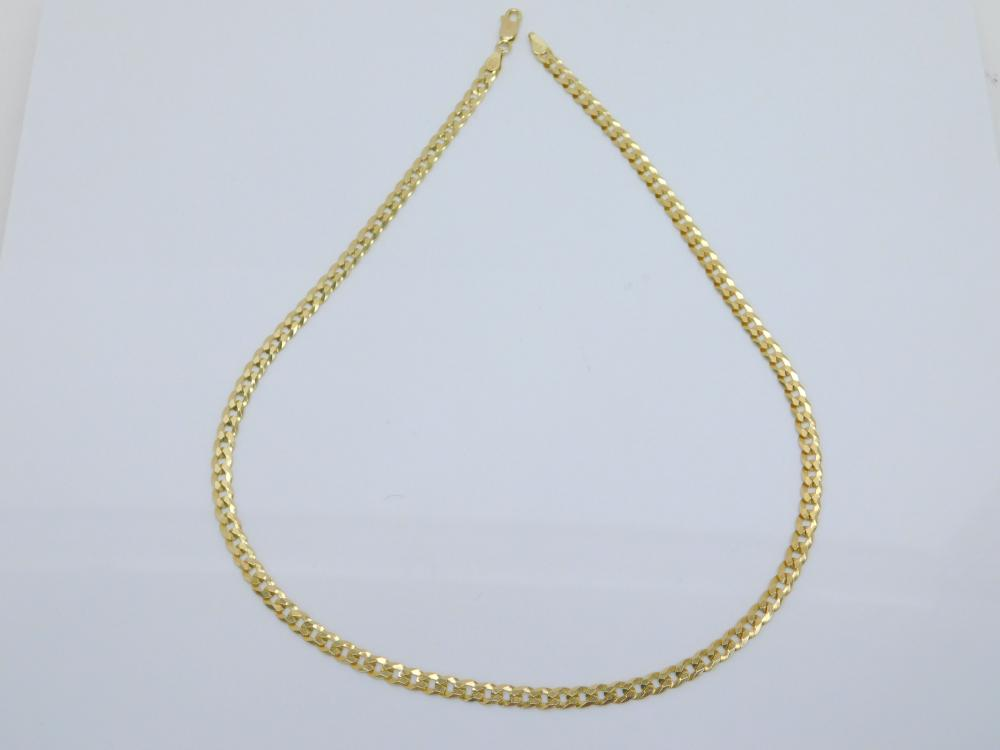 """Italian Goldtone Sterling Silver Figaro Link 18"""" Chain Necklace 9.3G"""