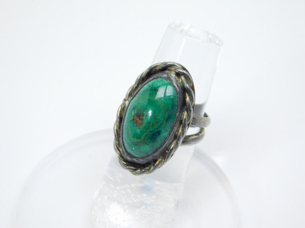 Vintage Native American Sterling Silver Chrysocolla Ring 8.8G Sz5