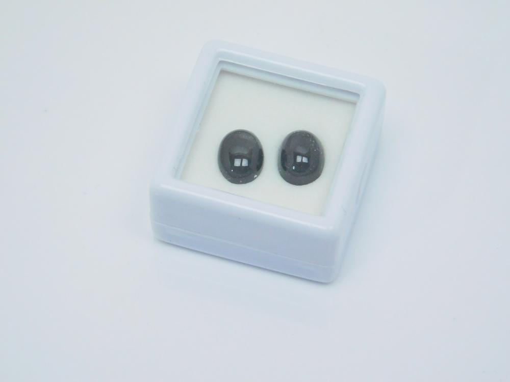 5Ct Lot Of 2 Black Star Diopside Stones For Jewelry Making
