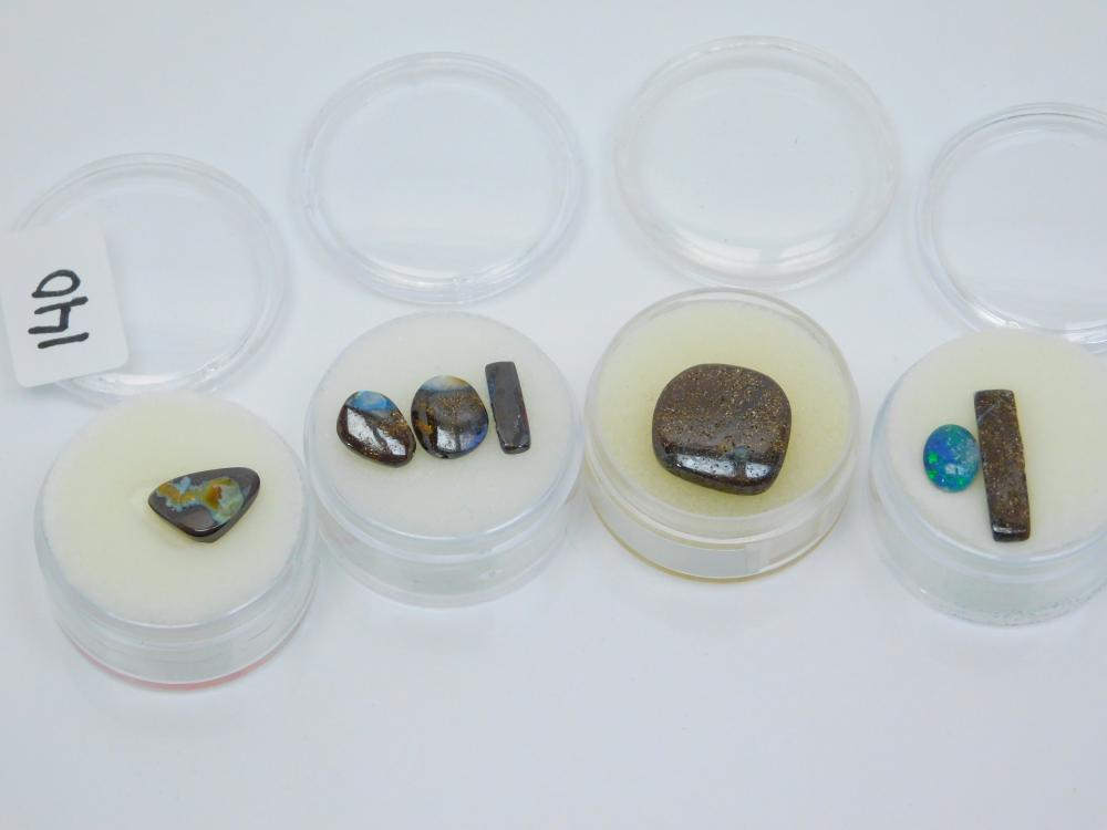 18.8Ct Lot Of 7 Australian Boulder Opal Cabachons For Jewelry Making