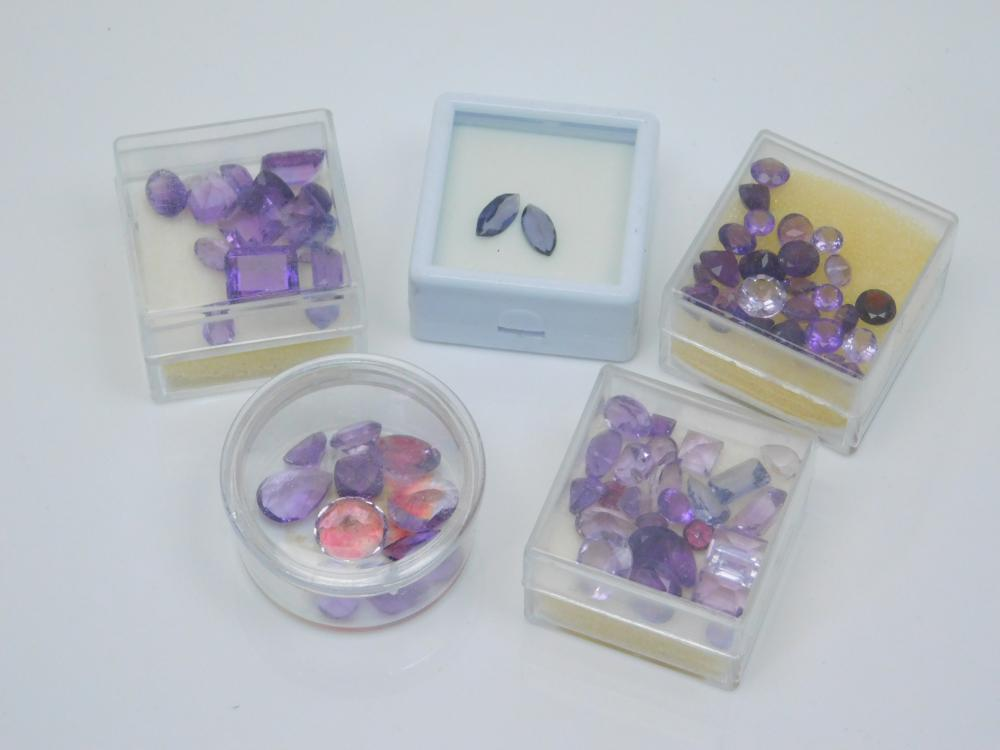 Lot Of Mixed Faceted Amethyst Stones For Jewelry Making