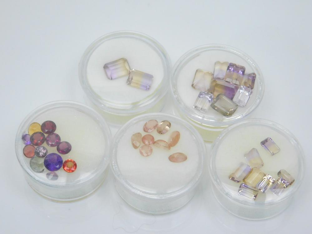 Lot Of Faceted Ametrine H Mixed Semiprecious Stones For Jewelry Making