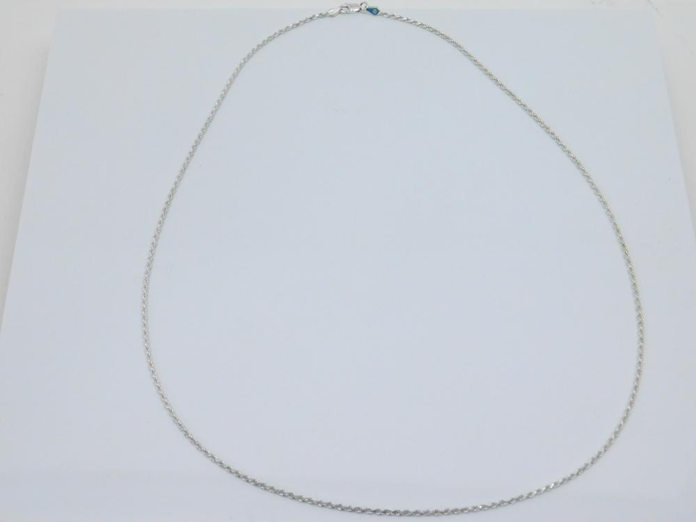 """Italian Sterling Silver 24"""" Rope Chain Necklace 7G"""