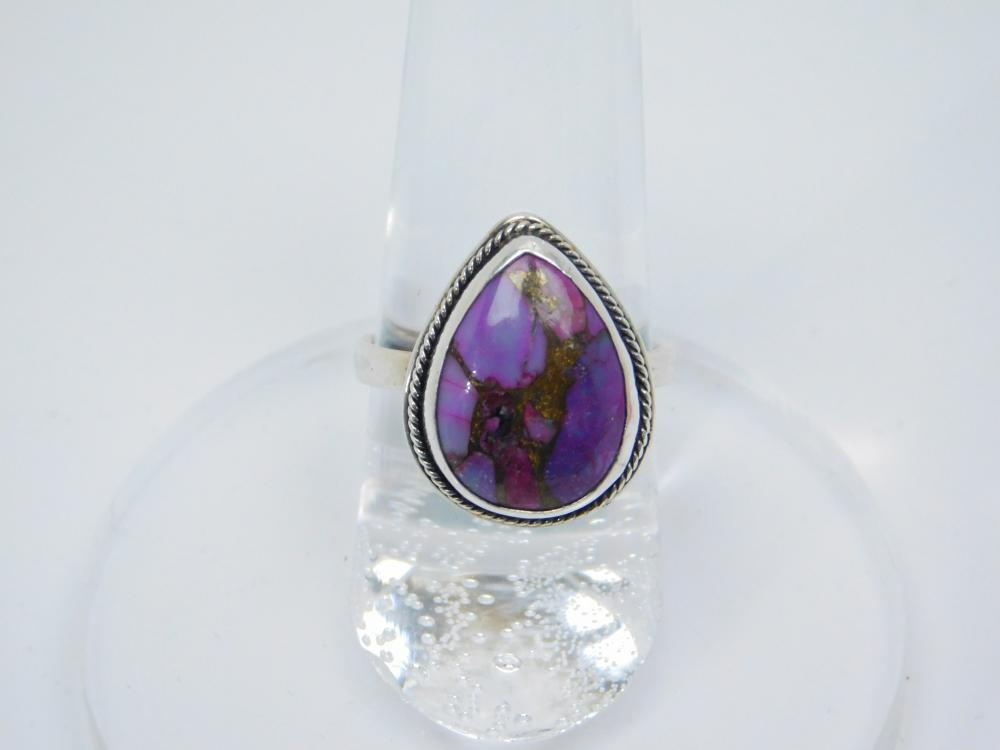 Sterling Silver Purple Mohave Turquoise Ring 4.5G Sz7