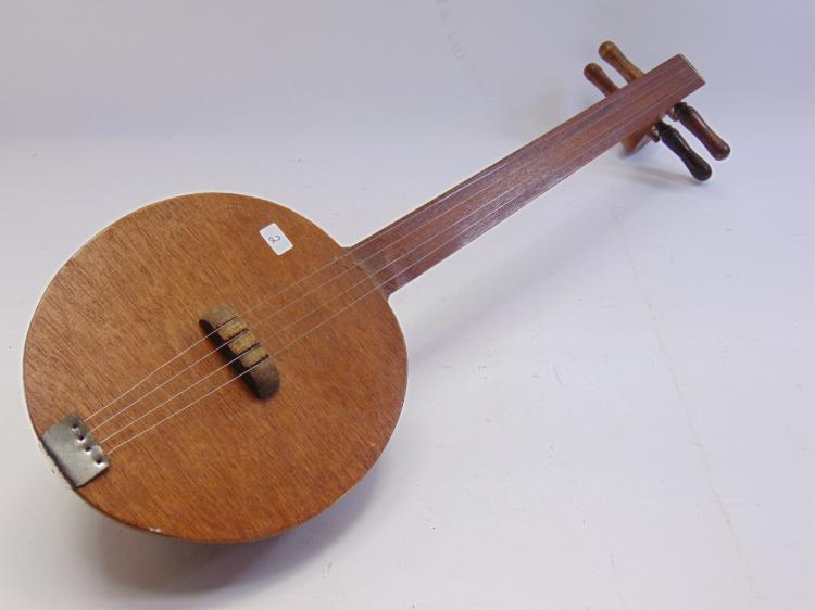 Lot 2: African Stringed Gourd Instrument
