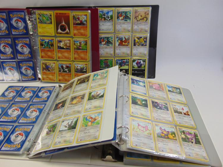 Large Lot of 999 Collectible Pokemon Cards in Protective Pages
