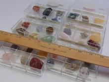 Lot 6: Lot of 36 Semi Precious Stones Minerals and Fossils in 6 GeoCentral Collection Cases
