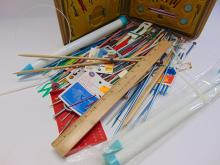 Lot 8: Large Lot of Knitting and Crochet Needles Including Boye Needle Master Set