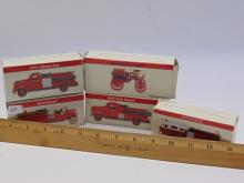 Lot 29: Lot of 5 Reader's Digest Fire Truck Models in the Box