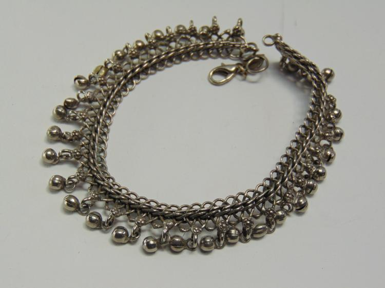 "Vintage Costume Jewelry Belly Dancer Bell 11"" Anklet"