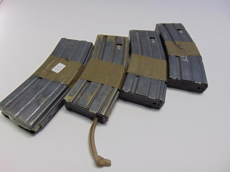 Lot of 4 Okay Industries and Labelle US Military .223 5.56 Rifle 10 Round Magazine Clips