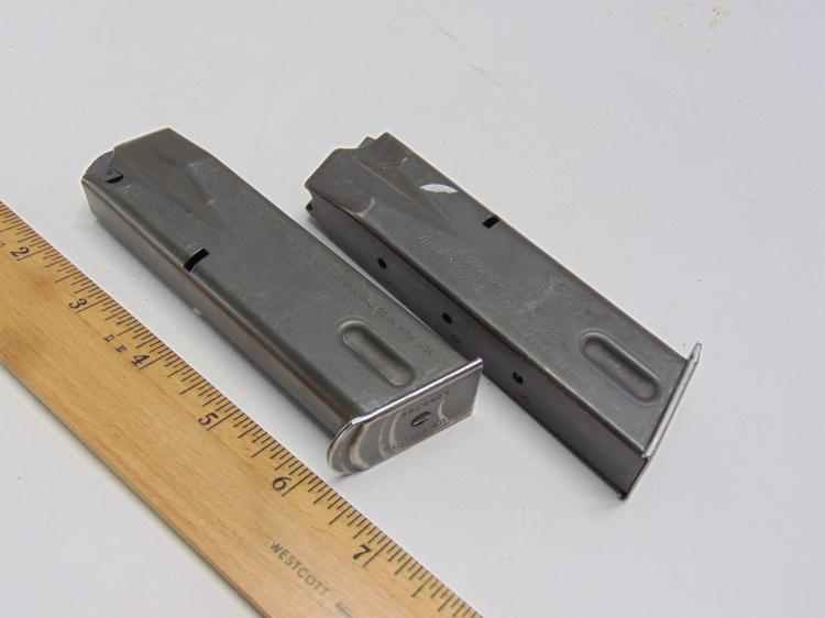 Lot of 2 Check Mate Beretta 9mm Police Issue 10 Round Pistol Magazine Clips