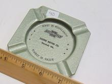 Lot 40: Vintage Chevrolet Dealership Tin Advertising Ash Tray for Lasers Motor Co