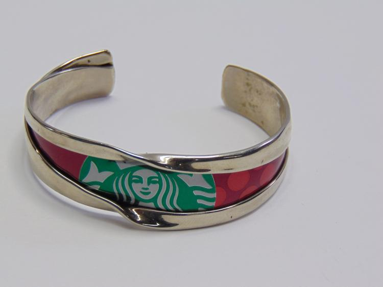 Hand Crafted Starbucks Coffee Can Cuff Bracelet