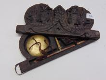Lot 56: Vintage Chinese Opium Scale in Carved Wood Foo Dog Case