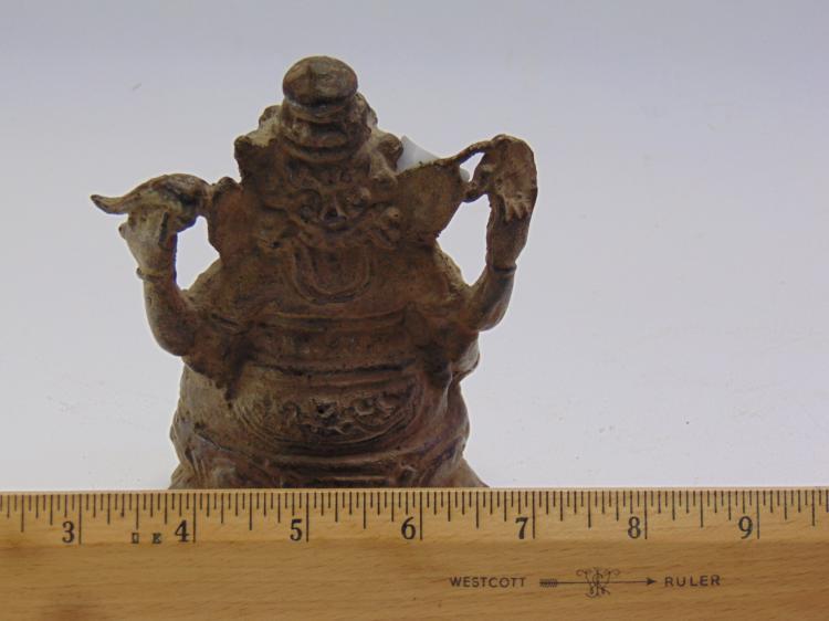 Lot 65: Hindu Cast Bronze Ganesh Elephant Deity Statue