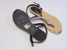 Lot 72: Db Dk Fashion Sadyy-6 Women's Rhinestone Snake Sandals Sz 7